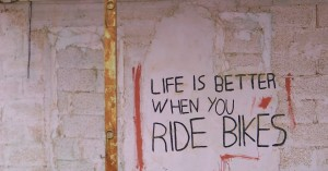 life is better when you ride a bicycle
