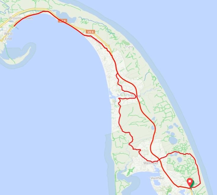 Cape code provincetown bike ride