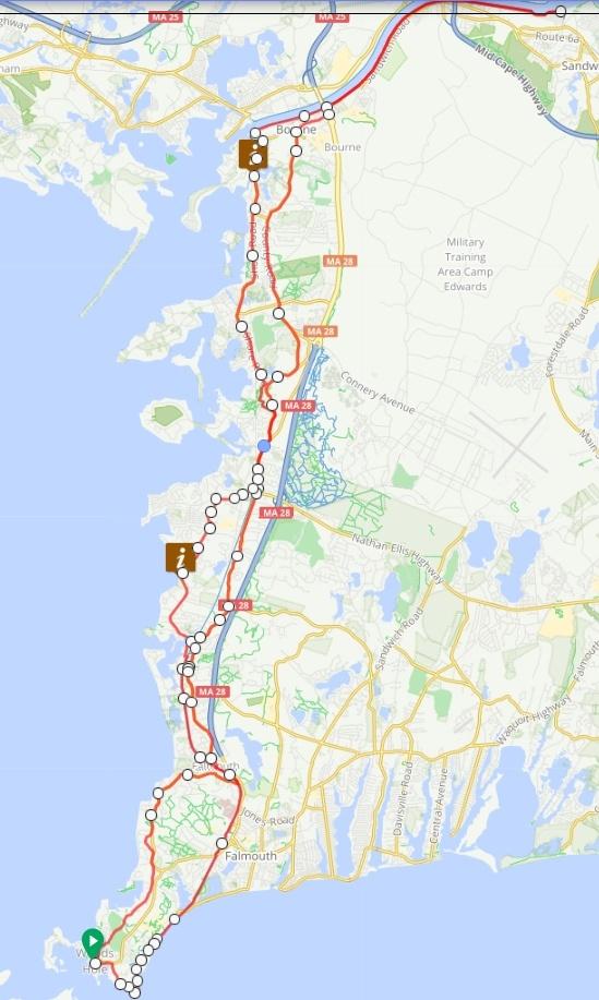 bike ride to bourne bridge on cape cod a truly great ride